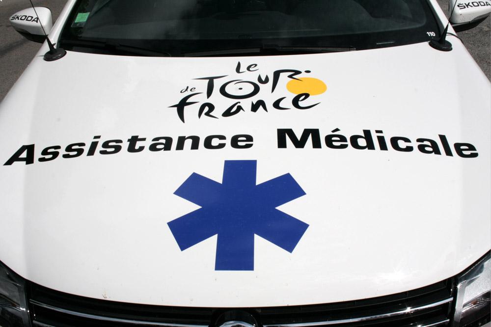 L'assistance médicale sur le Tour de France