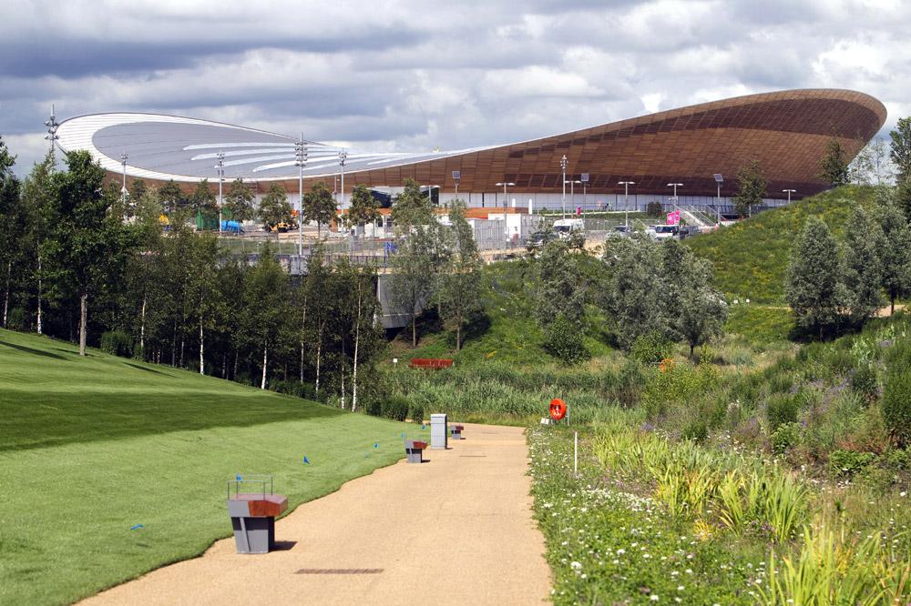 Le London Velopark vu du Parc Olympique