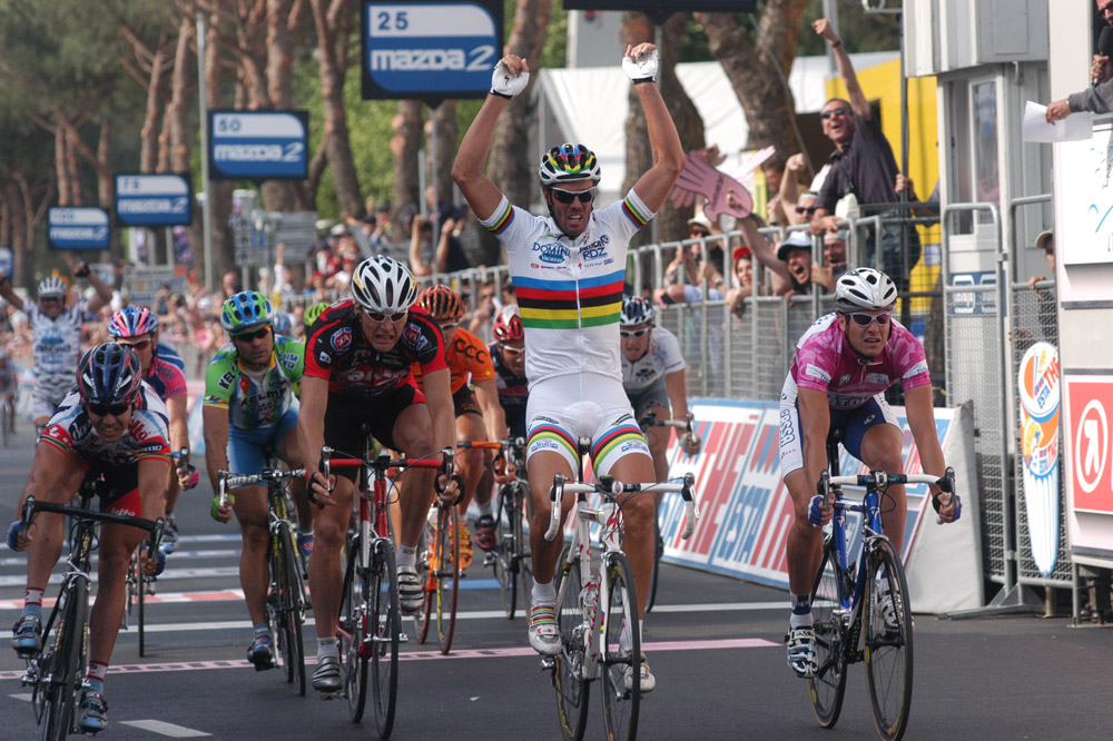 Mario Cipollini s'est imposé quarante-deux fois sur les routes du Giro