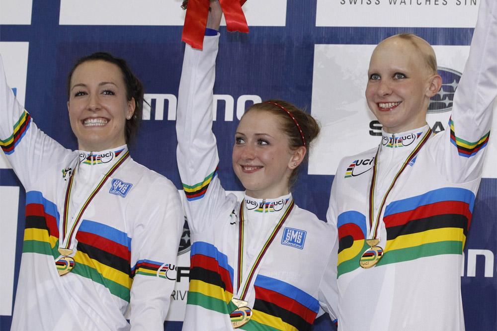 Danielle King, Laura Trott et Joanna Rowsell de record en record