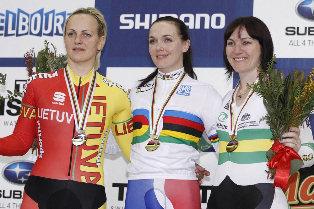 Victoria Pendleton est bien la reine du sprint, elle a vaincu Simona Krupeckaite et Anna Meares