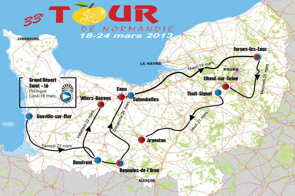 Le parcours du Tour de Normandie 2013