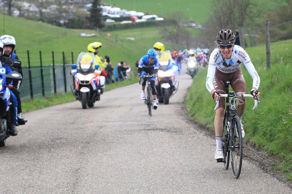 Romain Bardet, impressionnant baroudeur de l'Amstel Gold Race jusque dans le Keutenberg