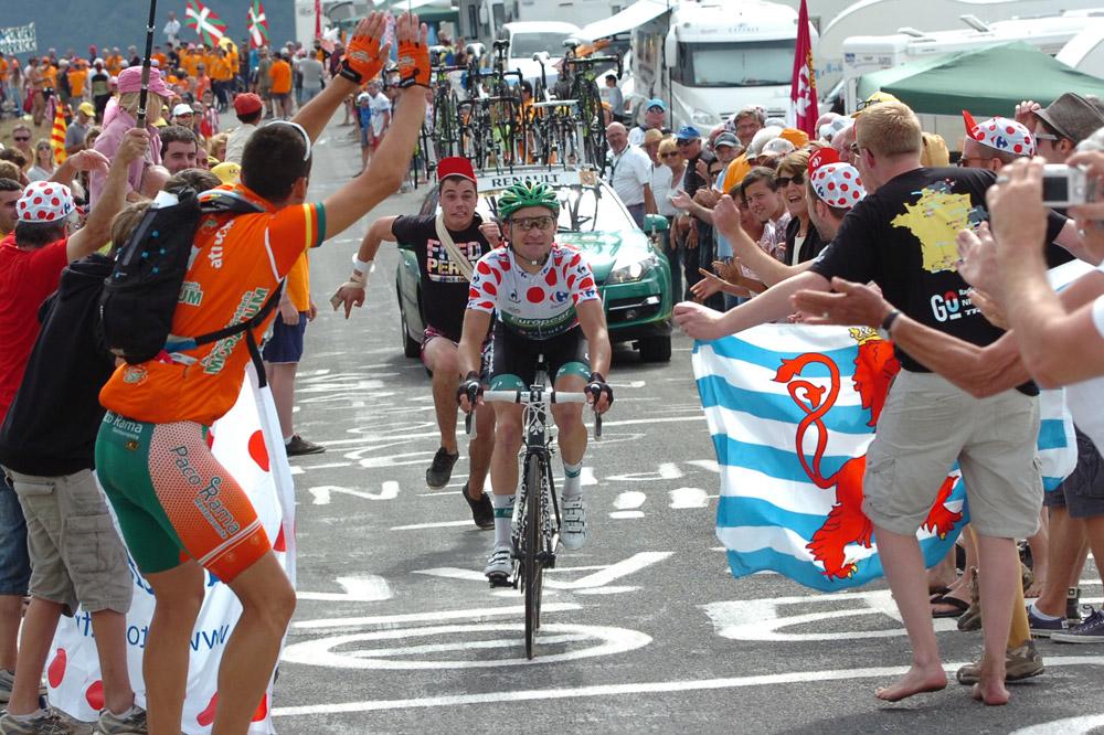 Thomas Voeckler défend son maillot à pois, il le ramènera à Paris