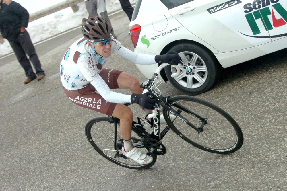 Hubert Dupont s'annonce au Tour du Trentin, ici dans le Passo Pordoi