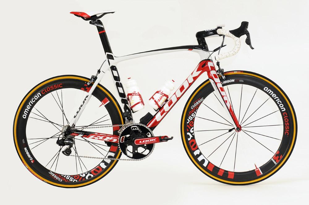 Le vélo Look de Cofidis équipé des roues American Classic