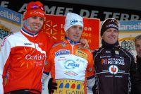Le podium d'une édition pas comme les autres de l'Etoile de Bessèges : Rein Taaramae, Jérôme Coppel et Franck Vermeulen