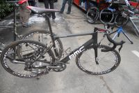 Le vélo d'Alessandro Ballan après quelques secteurs pavés