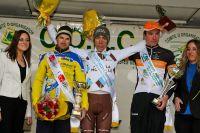 Le podium avec  Renaud Pioline, Axel Domont et Yoann Paillot