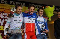 Derrière Hugo Pigeon, Neïlo Perrin Ganier et Lucas Michelis complètent le podium