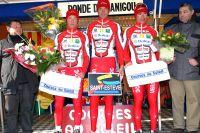 Le podium de la Ronde du Canigou, 100 % Nogentais