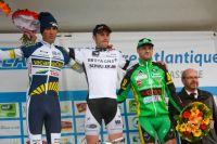 Le podium avec Mirko Selvaggi, Florian Vachon et Sébastien Delfosse