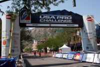 L'arche de départ du 2ème Tour du Colorado