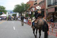 Un cowboy sur la ligne de départ