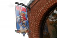 L'enseigne de The Hub of Aspen, une des nombreuses boutiques de cycles d'Aspen