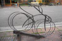 Sculpture cycliste dans les rues d'Aspen