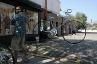Un vélo géant exposé dans les rues de Durango
