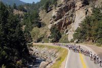 La course sillonne le canyon de Boulder