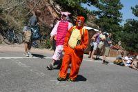 Vus dans la montée de Flagstaff Mount, Tigrou et Porcinet