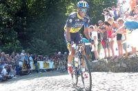 C'est bien Alberto Contador qui passe à l'attaque dans le mur de Grammont !