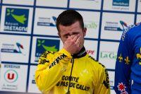 Anthony Kuentz ne cache pas ses émotions sur le podium