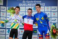 Entouré de Lucas Dubau et Hugo Briatta, Anthony Kuentz est le nouveau Champion de France