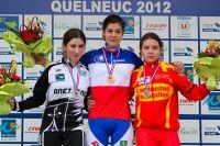 Le podium des Cadettes avec Maëva Calvez, Laura Perry et Océane Grumel