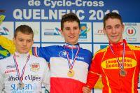Le podium Juniors avec Romain Seigle, Quentin Jauregui et Victor Koretsky