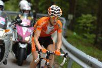 Mikel Nieve part à l'attaque dans le Passo Duran