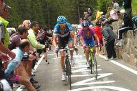 Ryder Hesjedal dans l'Alpe di Pampeago