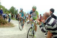Les pentes à 22% du Mortirolo font souffrir Ivan Basso et Roman Kreuziger