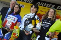 Le podium des juniors dames