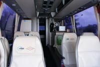 L'intérieur du bus Saur-Sojasun