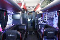 L'intérieur du bus Saxo Bank