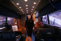 Le bus de l'équipe GreenEdge vu de l'intérieur