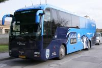 Le bus du Team Saxo Bank