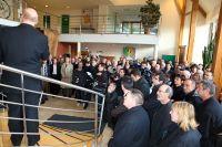Beaucoup de monde présent pour la présentation de la version 2012 de l'équipe Saur-Sojasun
