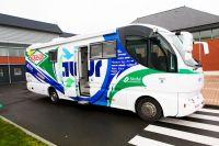 Le bus de l'équipe Saur-Sojasun
