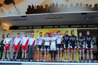 Le podium du relais par équipes