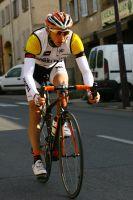 Romain Hardy, avec le maillot mimosa de leader