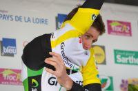 Luke Durbridge en jaune au Circuit de la Sarthe