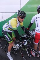 Simon Gerrans, tout nouveau champion d'Australie, étrenne son maillot sur les routes françaises