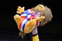 Le lion du Maillot Jaune aux couleurs du 14 juillet