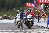 Alejandro Valverde arrive vainqueur à Peyragudes