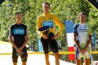 Chris Froome, Bradley Wiggins et Vincenzo Nibali composent le podium du Tour 2012