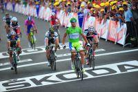 Peter Sagan franchit encore la ligne en tête, pour la troisième fois sur le Tour
