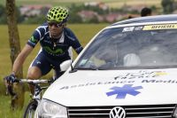 Alejandro Valverde en souffrance sur le Tour de France