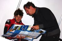 Rik Verbrugghe et Marcus Burghardt préparent leur séance d'entraînement