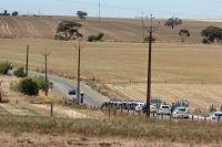 Le peloton progresse sur les routes du sud de l'Australie