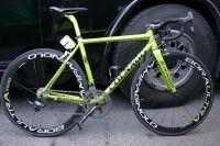 Thomas Voeckler est le seul coureur du Team Europcar à avoir un vélo vert brillant